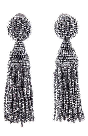 Oscar de la Renta 'Classic Short' Tassel Drop Clip Earrings