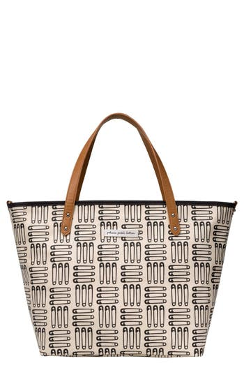Infant Girl's Petunia Pickle Bottom 'Downtown' Glazed Canvas Tote - Ivory