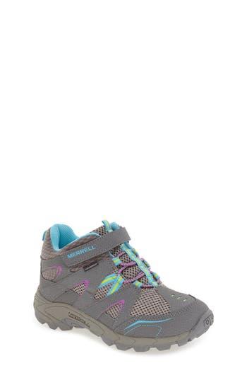 Boys Merrell Hilltop Waterproof Sneaker Size 5 M  Grey