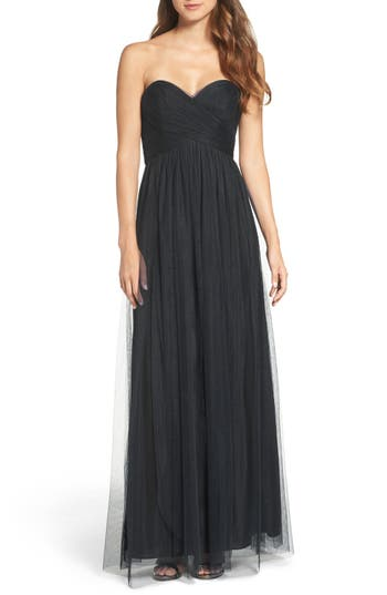 Wtoo Convertible Strap Tulle Gown