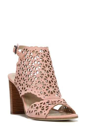 Via Spiga Garnet Perforated Ankle Strap Sandal- Pink