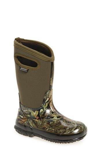 Boy's Bogs Classic Camo Insulated Waterproof Boot