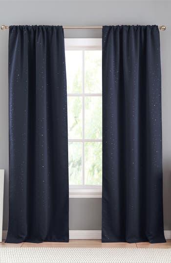 Lala + Bash Davis Blackout Window Panels, 7x96 - Blue