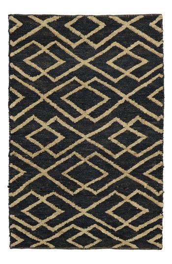 Villa Home Collection Soumak Aura Handwoven Rug, Size Swatch - Black