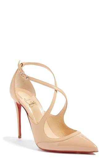 Christian Louboutin Crissos Pointy Toe Pump, Beige