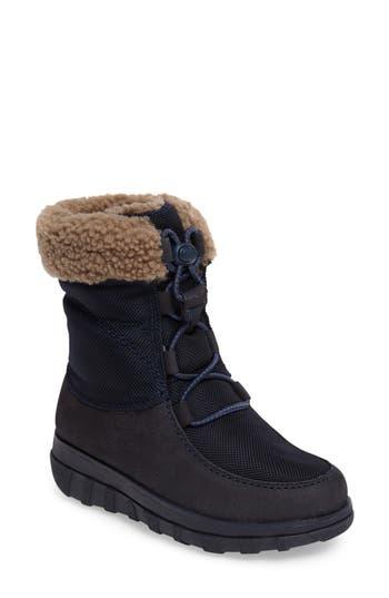 Fitflop(TM) Loaff Waterproof Genuine Shearling Boot, Blue
