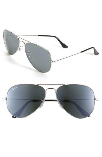 Ray-Ban Standard Original 5m Aviator Sunglasses - Silver Mirror