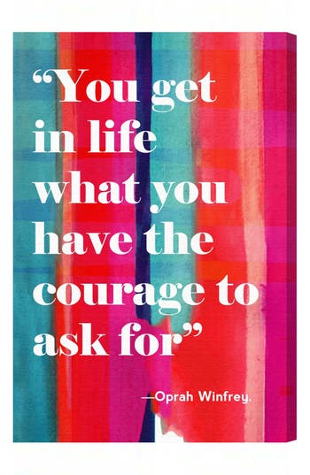 Oliver Gal 'Courage In Life' Wall Art