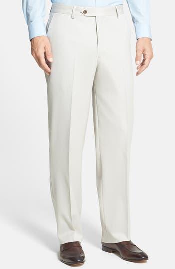 Berle Flat Front Wool Gabardine Trousers