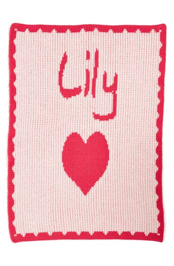 Butterscotch Blankees Hearts  Small Personalized Stroller Blanket