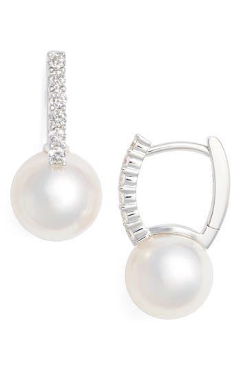 Women's Mikimoto Diamond & Akoya Cultured Pearl Earrings