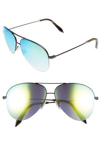 Victoria Beckham 62Mm Aviator Sunglasses - Black/ Yellow