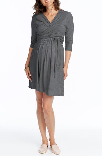 Rosie Pope Maternity/nursing Wrap Dress, Grey