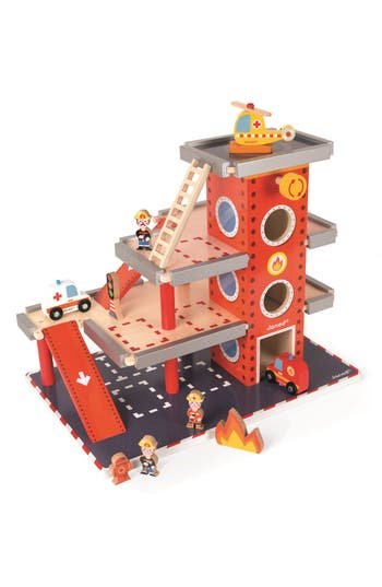Boys Janod Fire Station Play Set