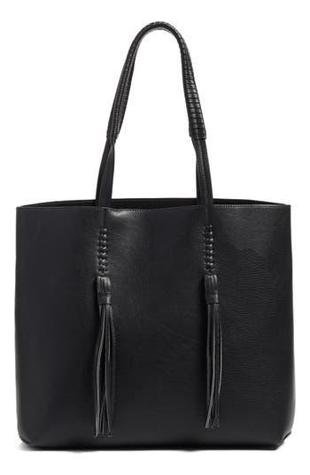 Chelsea28 Adriana Fringe Faux Leather Tote - Black