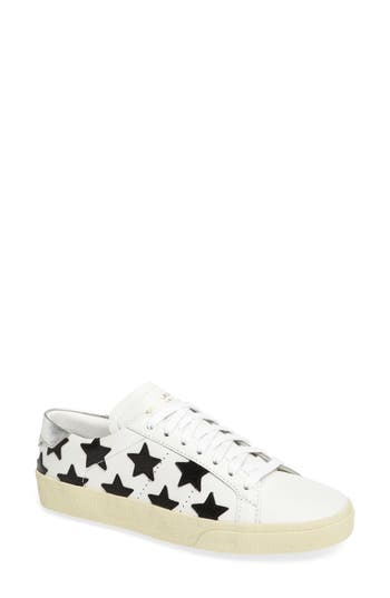 Saint Laurent Classic Court Sneaker - Ivory