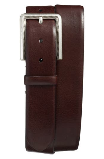 Mezlan Vaqueta Leather Belt, Brown