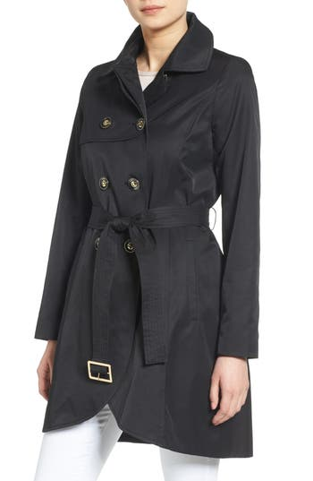 Petite Women's Cece Angelina Tulip Hem Trench Coat