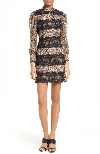 Tracy Reese Lace Stripe Sheath Dress