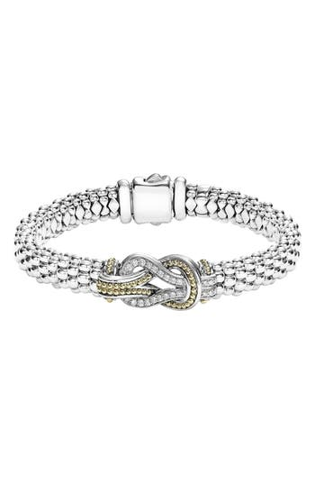 Women's Lagos Caviar Newport Diamond Station Bracelet