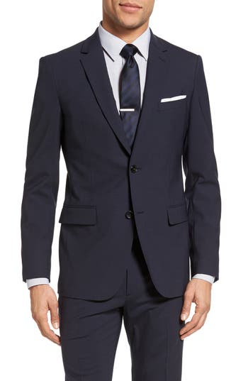 Theory Wellar New Tailor 1 Trim Fit Stretch Wool Sport Coat Blue