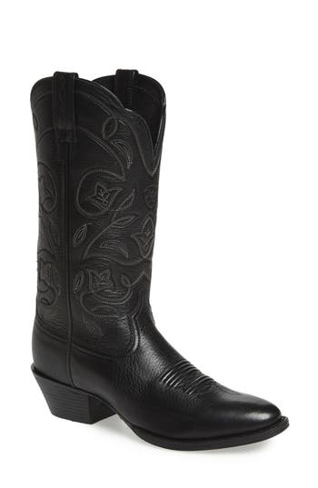 Ariat Heritage Western R-Toe Boot- Black
