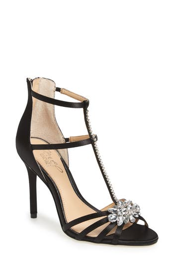 Jewel Badgley Mischka Hazel Embellished T-Strap Sandal