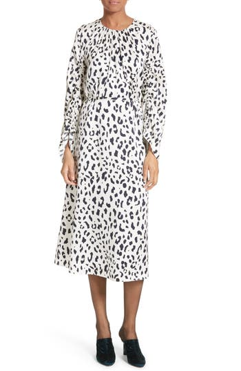 Women's Tibi Cheetah Satin Dress