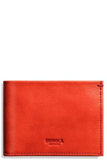 Shinola Slim Bifold Leather Wallet - Red