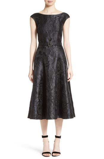 Women's St. John Collection Avani Rose Jacquard Dress