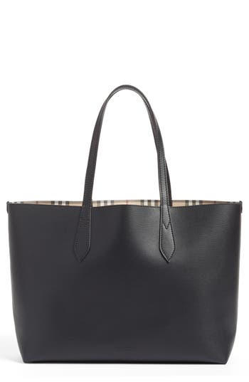 Burberry Medium Lavenby Reversible Calfskin Leather Tote -