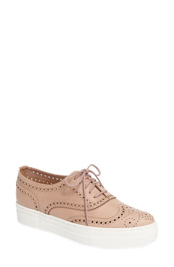 Shellys London Kimmie Perforated Platform Sneaker, Beige