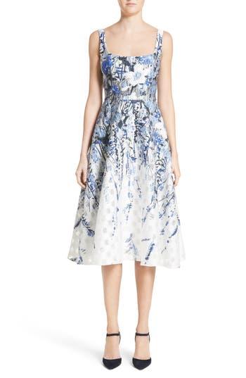 Lela Rose Wildflower Fil Coupe Dress