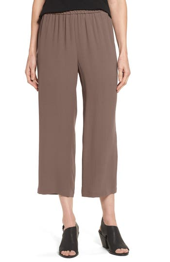 Women's Eileen Fisher Silk Crop Pants