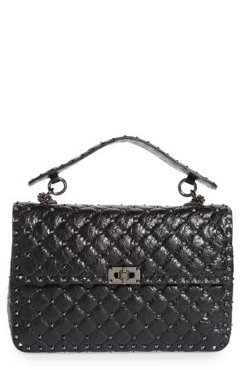 Valentino Garavani Rockstud Spike Large Shoulder Bag - Black