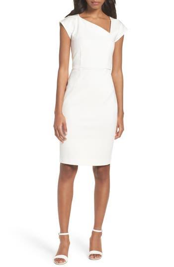 French Connection Lula Sheath Dress, White