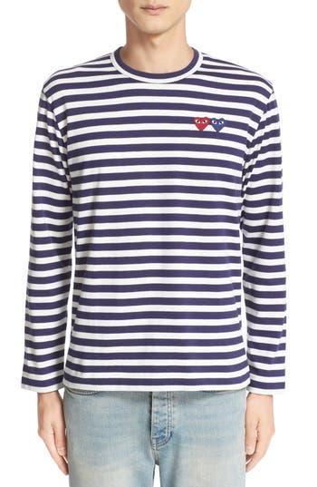 Comme des Garçons Play Twin Appliqué Stripe T-Shirt