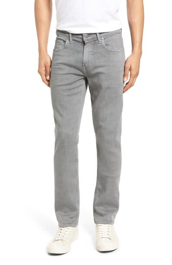 Big & Tall Paige Transcend - Lennox Slim Fit Jeans, Grey