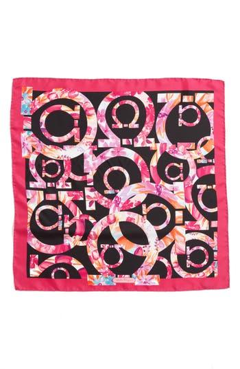 Women's Salvatore Ferragamo Silk Scarf, Size One Size - Black