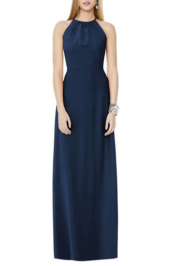 Social Bridesmaids Matte Chiffon Gown, Blue