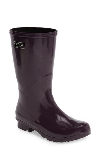 Roma Short Rain Boot, Purple