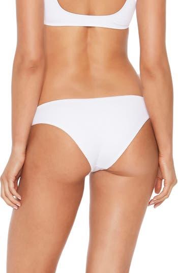 L Space Sandy Classic Bikini Bottoms, White