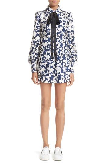Marc Jacobs Print Silk Babydoll Dress