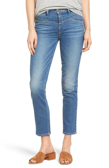 Paige Adelyn High Waist Ankle Straight Leg Jeans