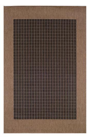 Couristan Checkered Field Indoor/outdoor Rug, ft 0in x 4ft 0in - Black