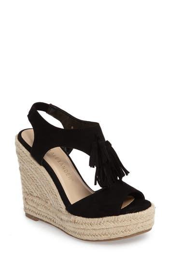 Athena Alexander Jenissa Wedge Espradrille Sandal, Black