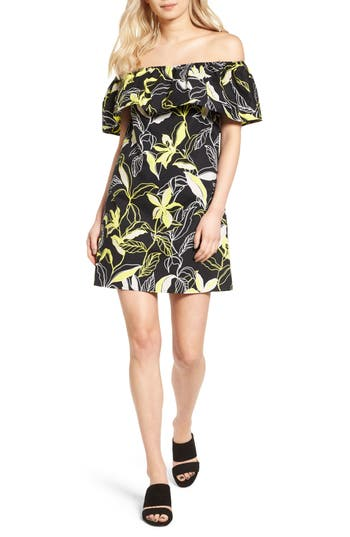 Splendid Tropic Floral Shift Dress, Black