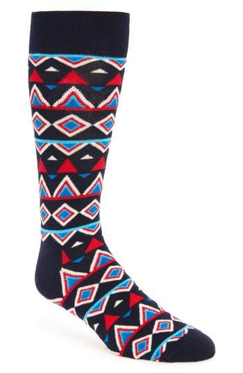 Men's Happy Socks Temple Cotton Blend Socks