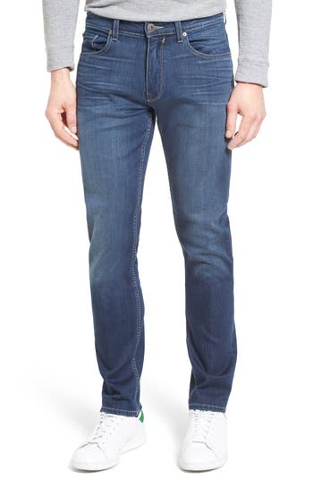 Big & Tall Paige Transcend - Lennox Straight Leg Jeans, Blue