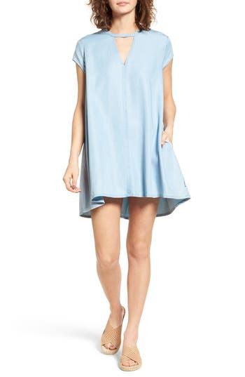 Rvca Upbeat Chambray Swing Dress, Blue